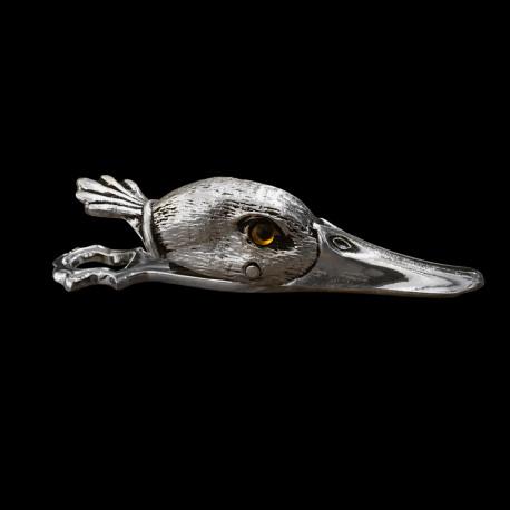 Pince à courrier Canard en métal argenté