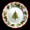 Majolica Christmas Tree dessert plate Red nose