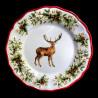 Assiette à dessert faïence Cerf Red Nose