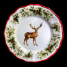 Majolica Deer dessert plate Red nose