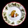 Assiette à dessert faïence Ours Red Nose