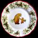 Assiette de table faïence ours Red Nose