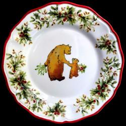 Majolica Deer dinner plate Red Nose Red nose