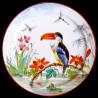 """Assiette en tôle """"Les Oiseaux"""" Toucan"""