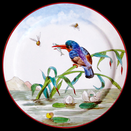 "Tin plate ""The Birds"" Kingfisher"