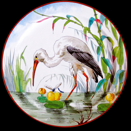 "Tin plate ""The Birds"" Stork"