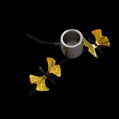 Candlestick 1 light Butterflies Twig