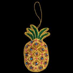 Ananas jaune brodé