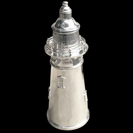 Lighthouse shaker in silverplated