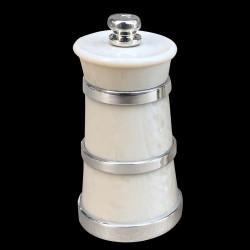 Moulin à sel ivoirine cerclé argent