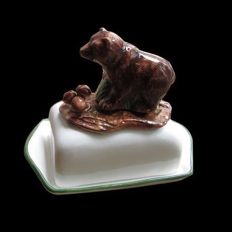 Bear, butter dish