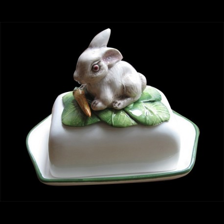 White rabbit, butter dish