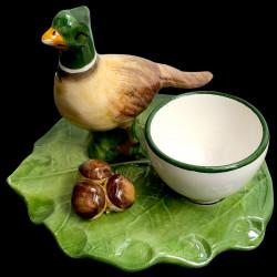 Coquetier faisan & champignons