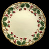 "Majolica dessert plate ivory and red fruits ""George Sand"""