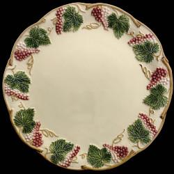 """Assiette de table ivoire et fruits rouges D 27 cm """"George Sand"""""""