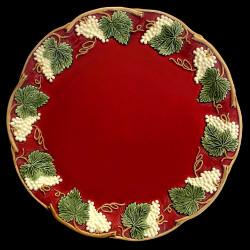 """Assiette de table rouge """"George Sand"""""""