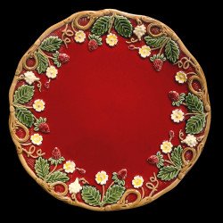 "Majolica red desert plate ""Georges Sand"""