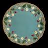 "Majolica turquoise dessert plate ""George Sand"""