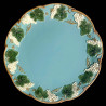 "Majolica turquoise dinner plate ""George Sand"""