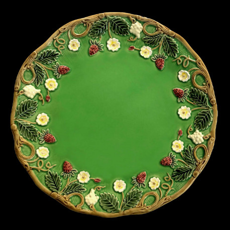 "Assiette à dessert verte ""George Sand"""