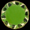 "Majolica green dinner plate ""George Sand"""