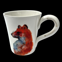 Majolica fox mug