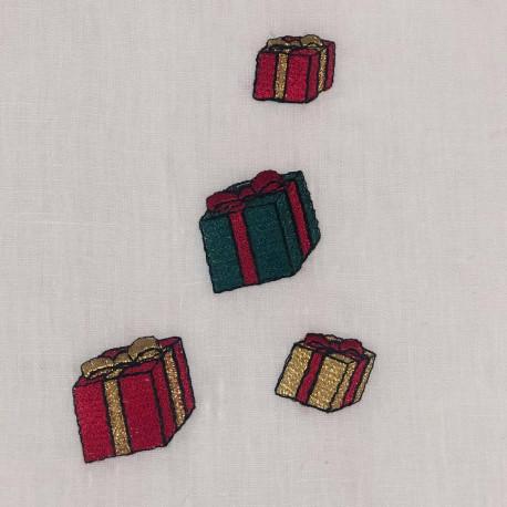 Serviette de table lin brodé collection Noël
