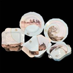 """Haviland Limoges Porcelain Dinner Service """"Views of France"""