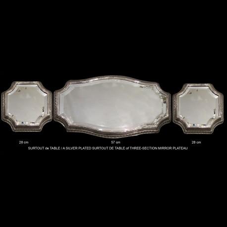 centre de table circa 1910 métal argenté