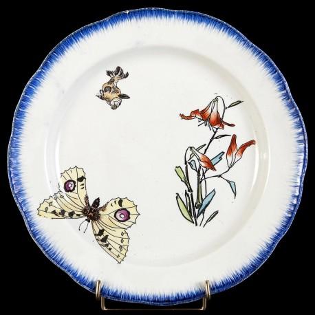 Bracquemond Papillon & Clochette assiette D 25 cm
