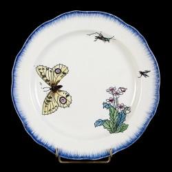 Bracquemont Yellow Butterfly & Grasshopper plate D 25 cm
