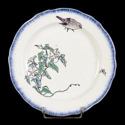 Bracquemond Sparrow & White Bellflower plate D 24,5 cm