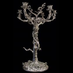 Candelabre bronze argenté 75 cm