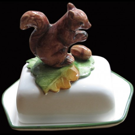 Squirrel, butter dish