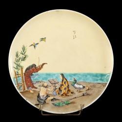 Scène Japonaise musiciens D 23 cm