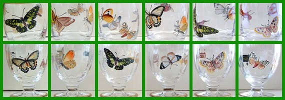 Butterfly cristal glass