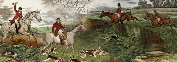 Faience scène de chasses d'après John Frederick Snr Herring