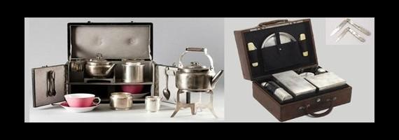 Viaje, maleta para el té, ...