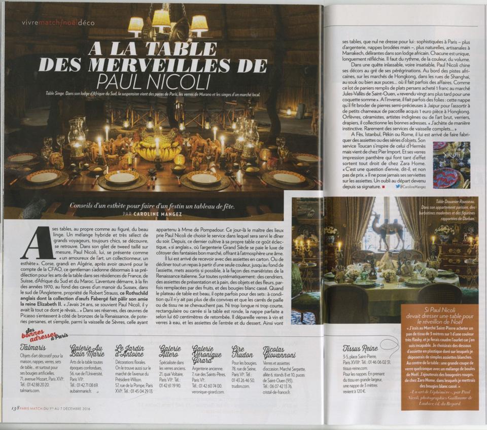 Paris match les bonnes adresses de paul nicoli au bain marie - Paris les bonnes adresses ...
