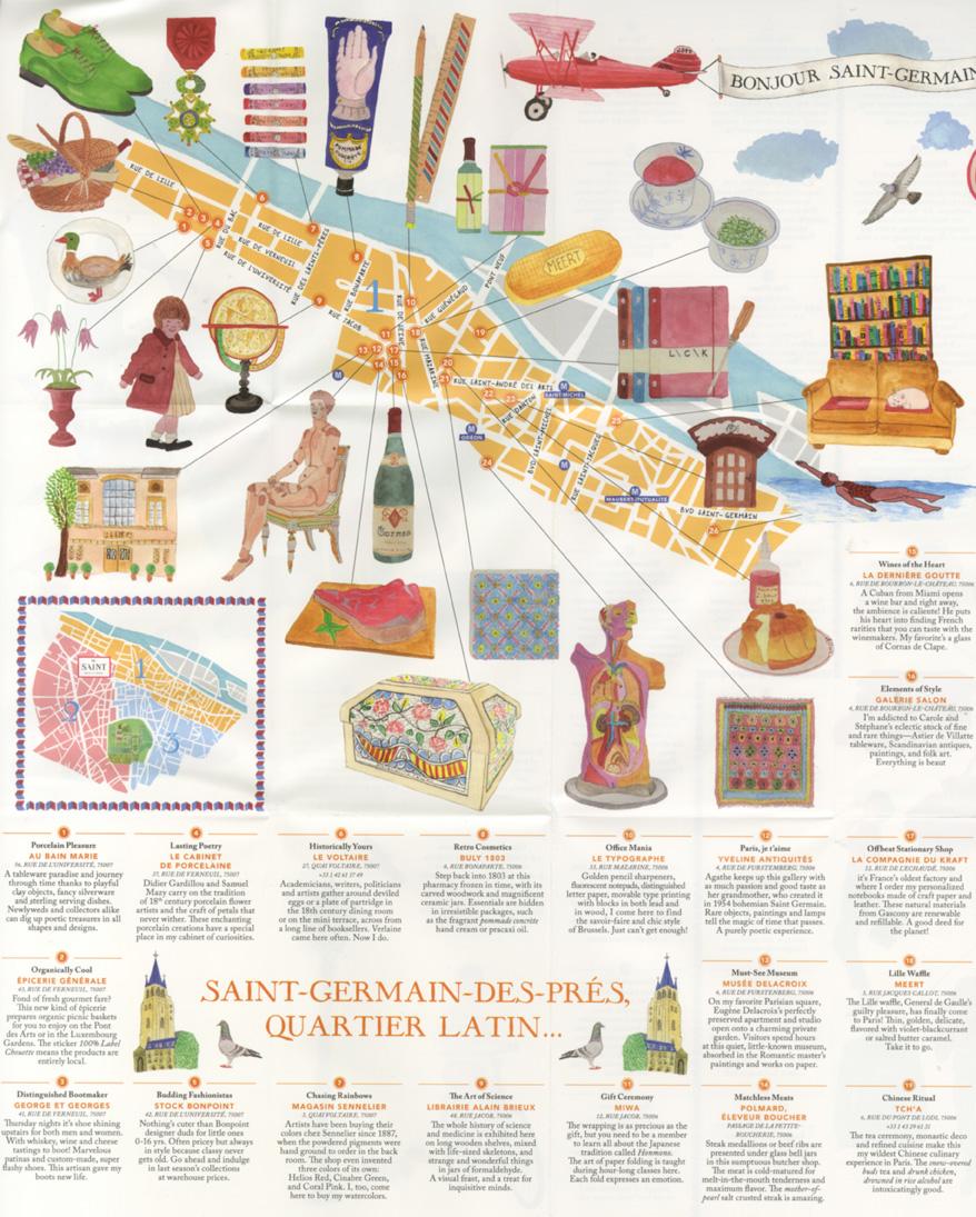 Guide Saint Germain des Près Marin Montagut carte