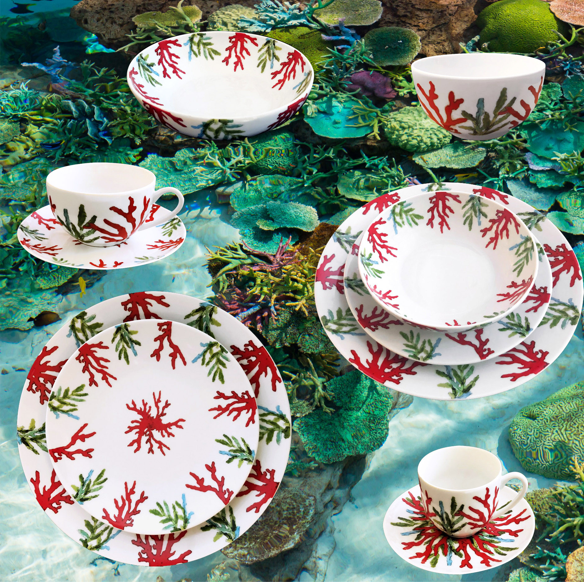 Collection porcelaine Corail