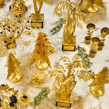 Centerpieces and flowers : all our golden decorations
